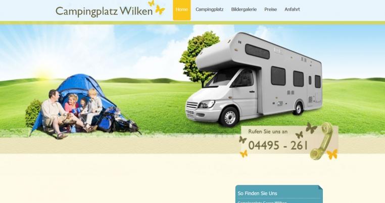 Homepage Camping Wilken